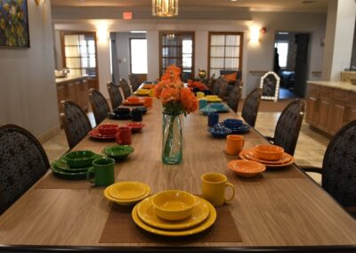 Little Rock Nursing Home, Short and Long Term Care pg interior dinner table 01
